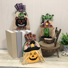 Halloween decoration tote bag children holiday candy bag witch pumpkin drawstring bag party party show dress up 3-piece set