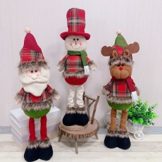 Christmas decoration ornaments Christmas party decoration old man snowman doll retractable doll Christmas gift ornaments