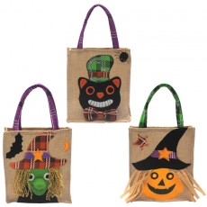 Halloween decoration supplies non-woven pumpkin tote bag Ghost Festival mall hotel biscuits apple gift bag