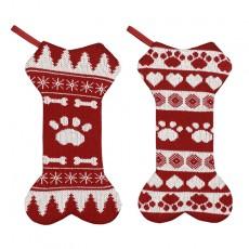 Christmas decorations Christmas bone socks gift bag Christmas gift socks pendant Christmas large children 2 piece set