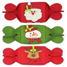New Foldable Candy Gift Packaging Bag Creative Non-woven Bag Christmas Christmas Decoration Gift Bag Set of 3