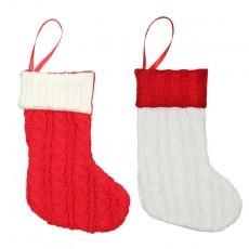 Christmas supplies gift bag Christmas tree small wool knitted socks ornaments pendant decoration Christmas supplies bag 2-piece set