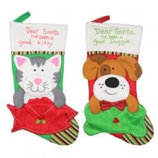 Christmas decorations dog cat envelope socks Christmas ornaments pendants Christmas tree decorations Christmas gifts 2-piece set