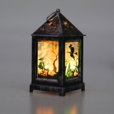 Halloween decoration LED wind lantern retro decoration oil lamp carnival party pumpkin lantern ghost festival lamp Random shipments