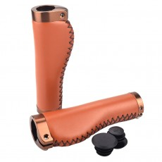 1 Pair Bicycle Handlebar Cover Mountain road Cycling Bike MTB Grips Smooth Soft PU Leather Aluminum alloy Anti-slip Handle Grip