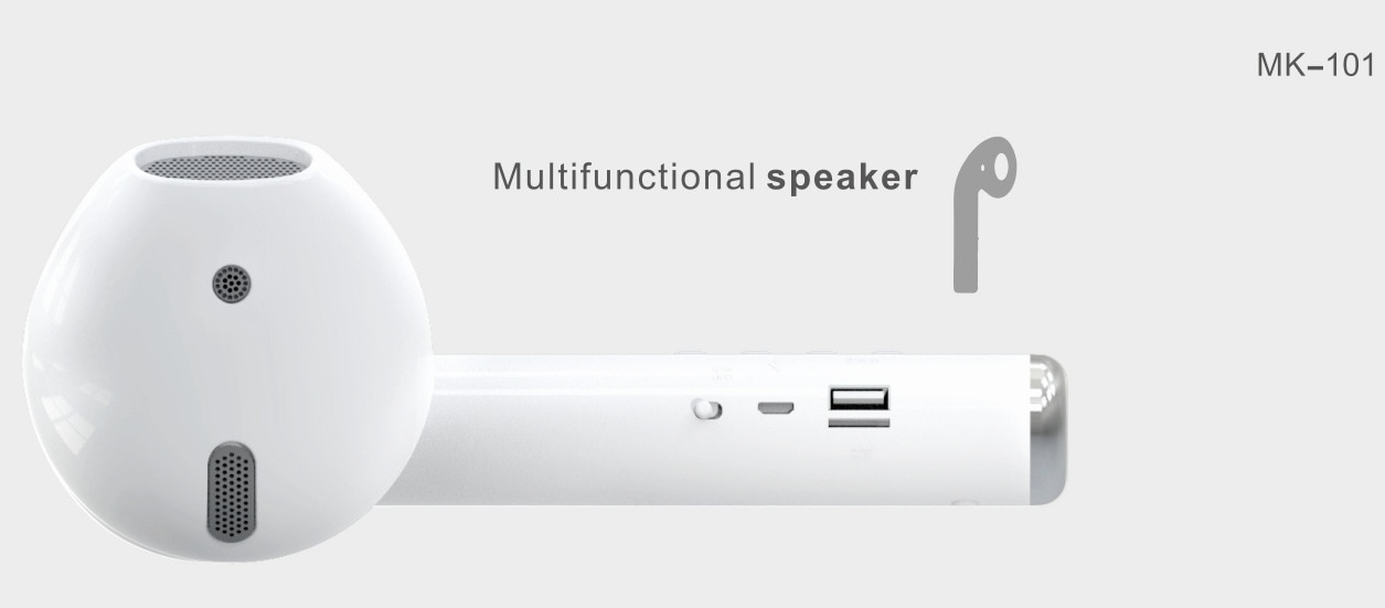 Giant Headset Speaker Bluetooth Earphone Mode Wireless Portable Speaker Music Loudspeaker Support FM Radio Mic TF Card AUX Cable 3