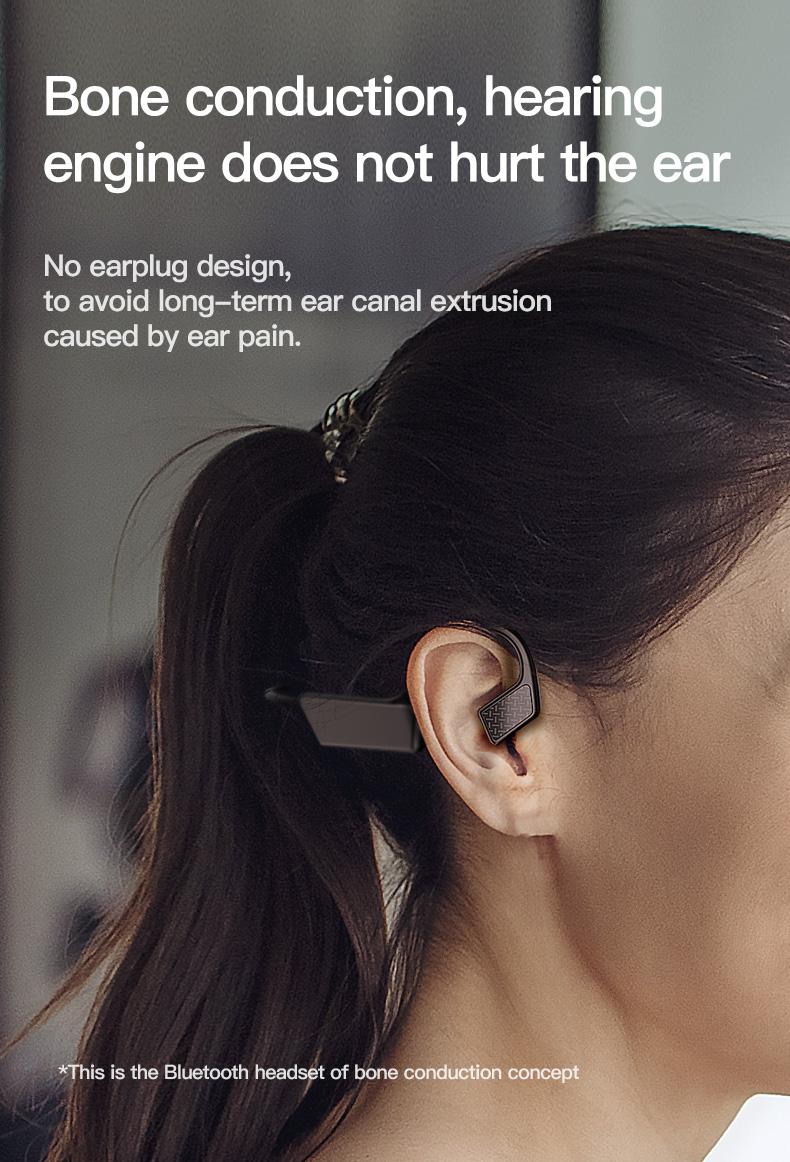 New Bluetooth Headphones Bone Conduction Earphone Outdoor Sport Headset Earhook Wireless Bluetooth Earphones Waterproof Earbuds 4