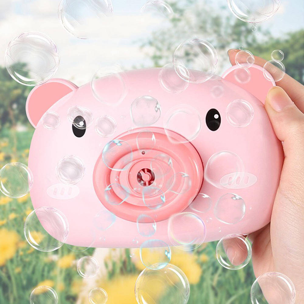Automatic Funny Cute Cartoon Pig Camera Baby Bubble Machine Outdoor Automatic Maker Bubble Gifts for Kids and Girls 0
