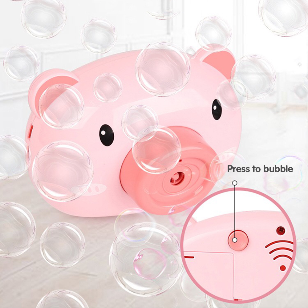 Automatic Funny Cute Cartoon Pig Camera Baby Bubble Machine Outdoor Automatic Maker Bubble Gifts for Kids and Girls 3