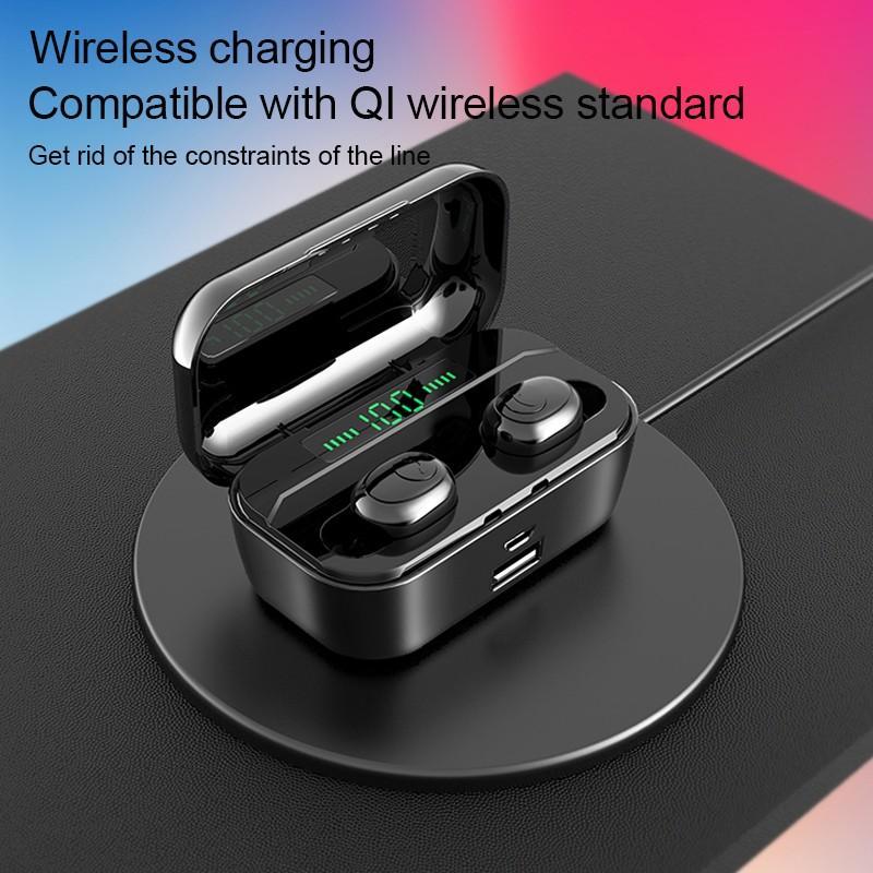 LED Display Earphone Bluetooth 5.0 Wireless Bluetooth Stereo Earphones Earbuds 2200mAh Power Bank Earphone Waterproof 9