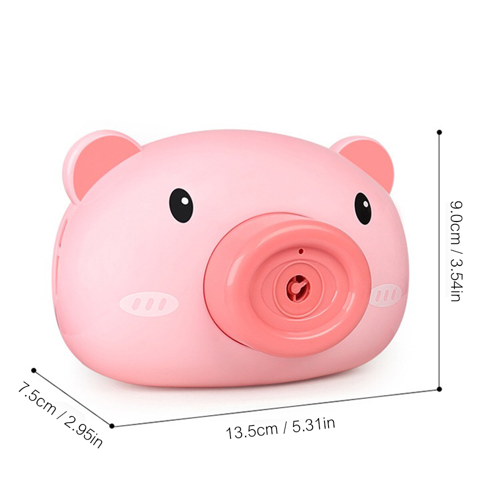 Automatic Funny Cute Cartoon Pig Camera Baby Bubble Machine Outdoor Automatic Maker Bubble Gifts for Kids and Girls 10