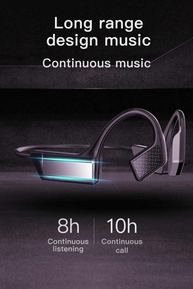New Bluetooth Headphones Bone Conduction Earphone Outdoor Sport Headset Earhook Wireless Bluetooth Earphones Waterproof Earbuds 9