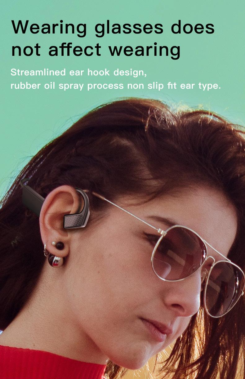 New Bluetooth Headphones Bone Conduction Earphone Outdoor Sport Headset Earhook Wireless Bluetooth Earphones Waterproof Earbuds 0