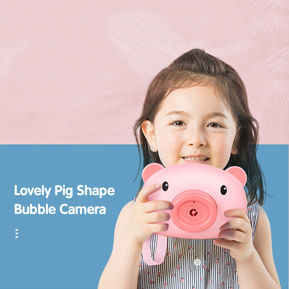 Automatic Funny Cute Cartoon Pig Camera Baby Bubble Machine Outdoor Automatic Maker Bubble Gifts for Kids and Girls 9