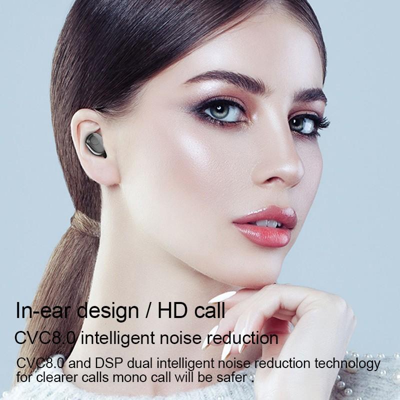 LED Display Earphone Bluetooth 5.0 Wireless Bluetooth Stereo Earphones Earbuds 2200mAh Power Bank Earphone Waterproof 3