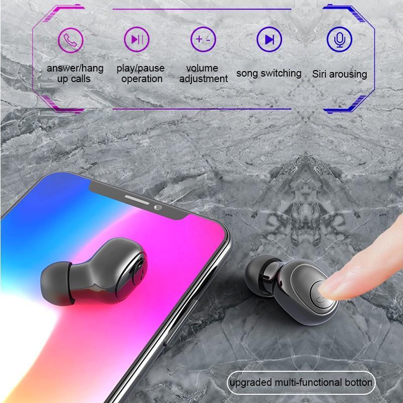 LED Display Earphone Bluetooth 5.0 Wireless Bluetooth Stereo Earphones Earbuds 2200mAh Power Bank Earphone Waterproof 7