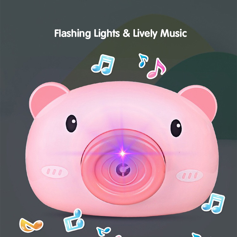Automatic Funny Cute Cartoon Pig Camera Baby Bubble Machine Outdoor Automatic Maker Bubble Gifts for Kids and Girls 4