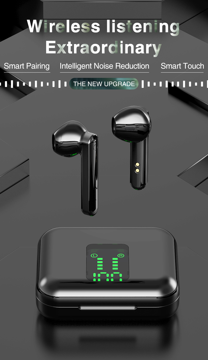 Bluetooth Wireless Headphones Touch Control LED Display Bluetooth 5.0 Gaming Headset Sports Waterproof Earphones 0
