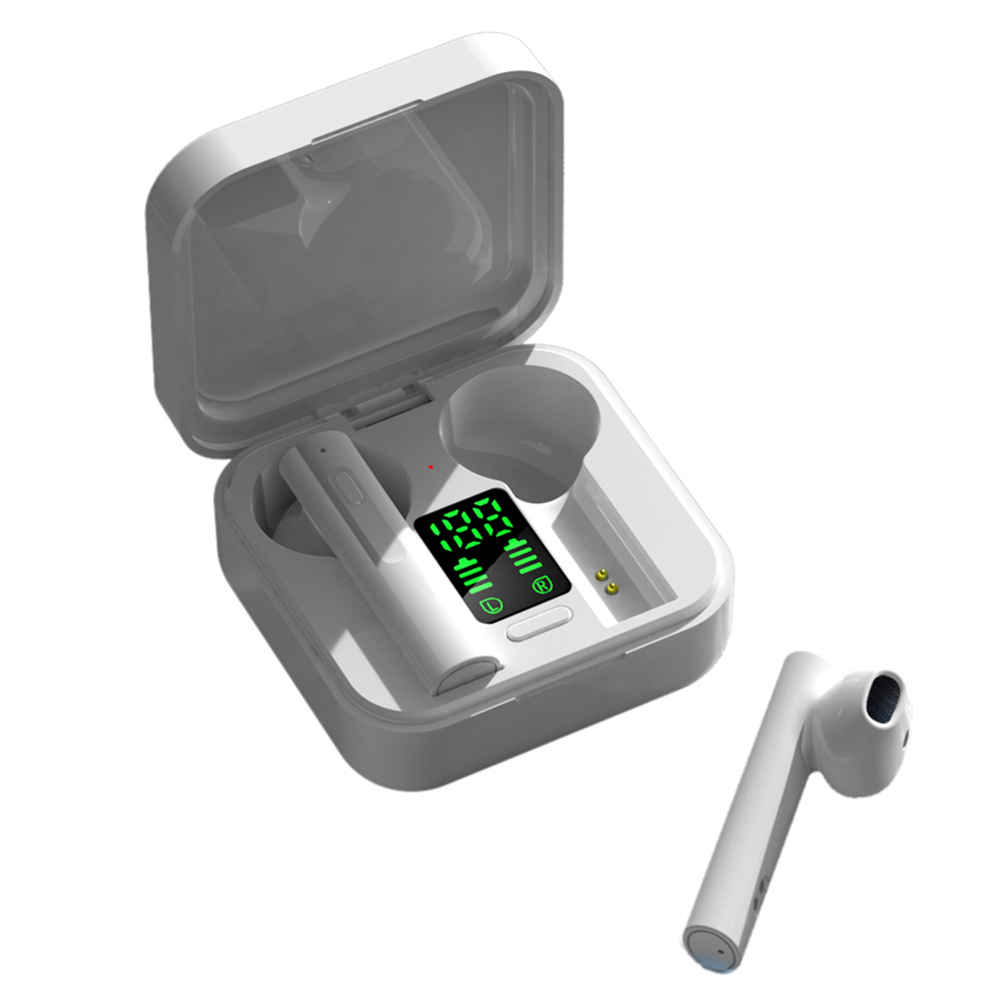 AIR6 Plus Bluetooth 5.0 Wireless Digital Display Stereo Sports Earphones Earbuds Mini Ture Wireless Headset For Xiaomi Huawei 9