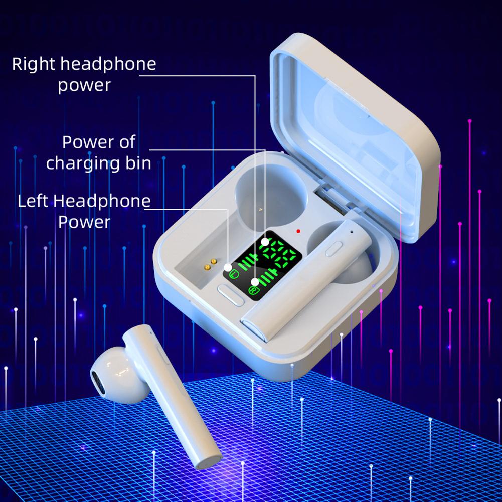 AIR6 Plus Bluetooth 5.0 Wireless Digital Display Stereo Sports Earphones Earbuds Mini Ture Wireless Headset For Xiaomi Huawei 3