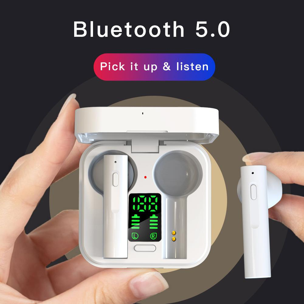 Air6 Plus Earphones TWS Wireless Bluetooth Headphones Solar Charging Earbuds Intelligent LED Display Touch Control Headsets 3