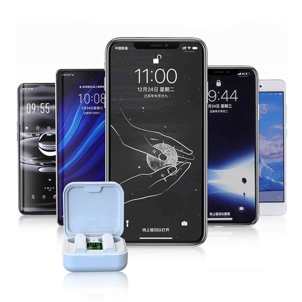 AIR6 Plus Bluetooth 5.0 Wireless Digital Display Stereo Sports Earphones Earbuds Mini Ture Wireless Headset For Xiaomi Huawei 6