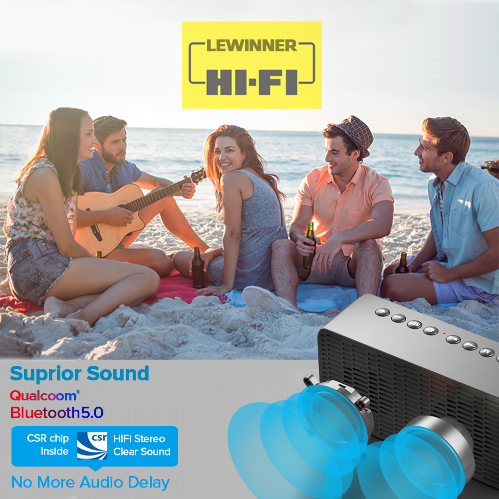 Bluetooth Speaker Column Portable Wireless Speakers Bass Stereo Subwoofer With Handsfree TF Card AUX MP3 Player Alarm Clock 3