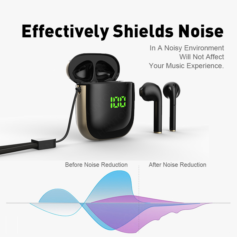 Bluetooth 5.0 Earphone Wireless Earphones Stereo Sport Wireless Headphones Earbuds headset With LED Power Display For all Phones 6