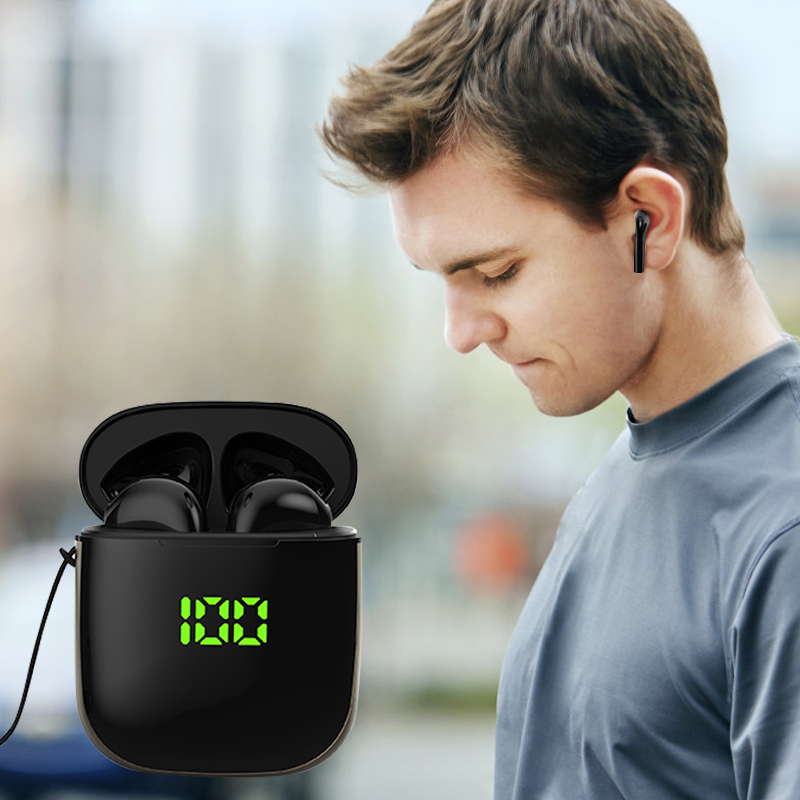 Bluetooth 5.0 Earphone Wireless Earphones Stereo Sport Wireless Headphones Earbuds headset With LED Power Display For all Phones 1