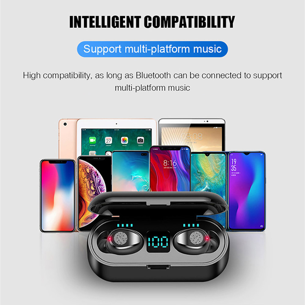 TWS Wireless Headphones Mini Bluetooth V5.0 Earphone Waterproof True Earbuds HD Stereo Headset For Xiaomi iPhone Sports Ear Buds 10