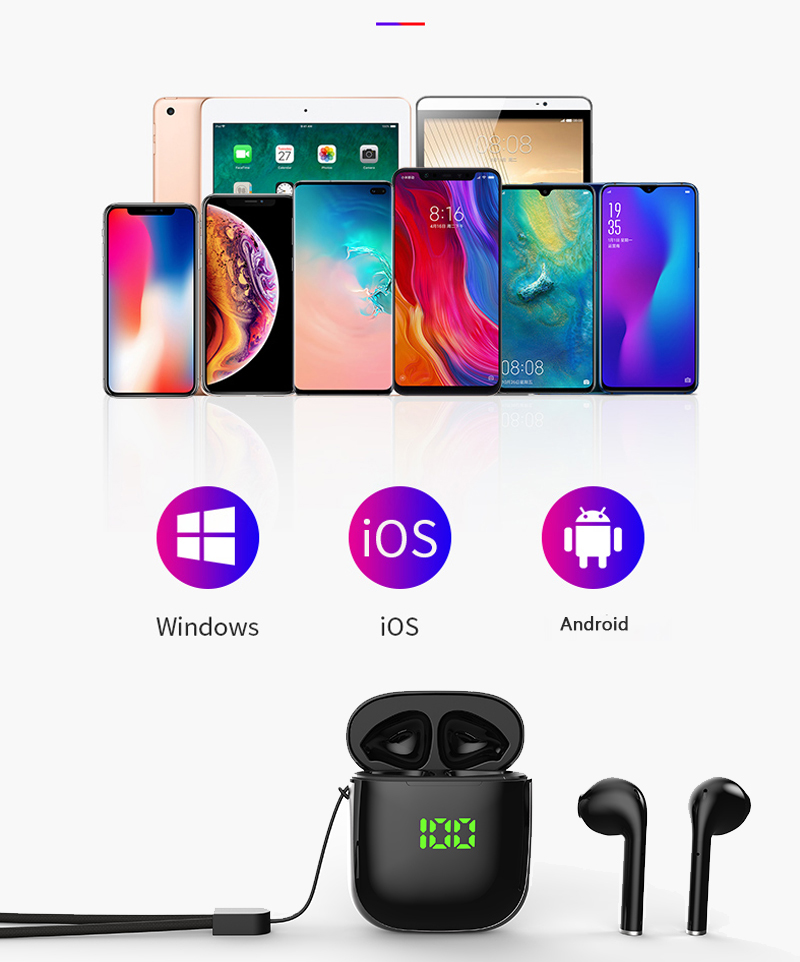 Bluetooth 5.0 Earphone Wireless Earphones Stereo Sport Wireless Headphones Earbuds headset With LED Power Display For all Phones 9
