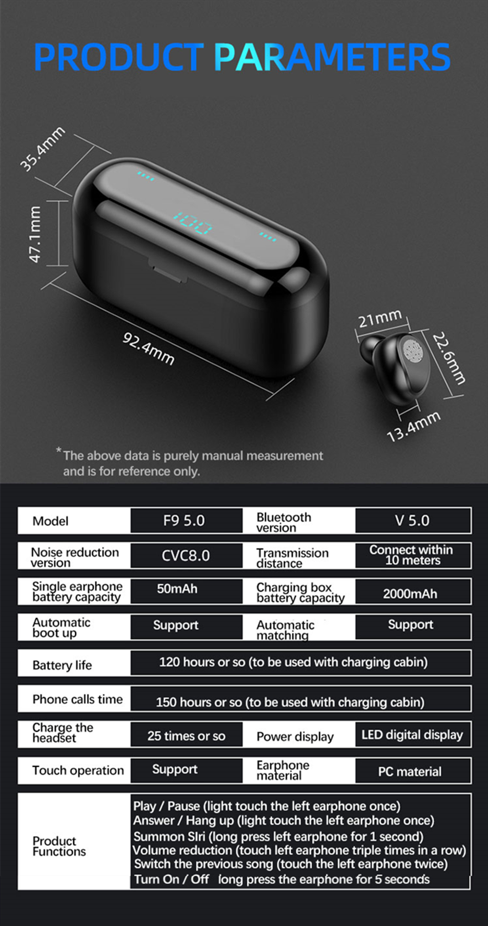 TWS Wireless Headphones Mini Bluetooth V5.0 Earphone Waterproof True Earbuds HD Stereo Headset For Xiaomi iPhone Sports Ear Buds 12