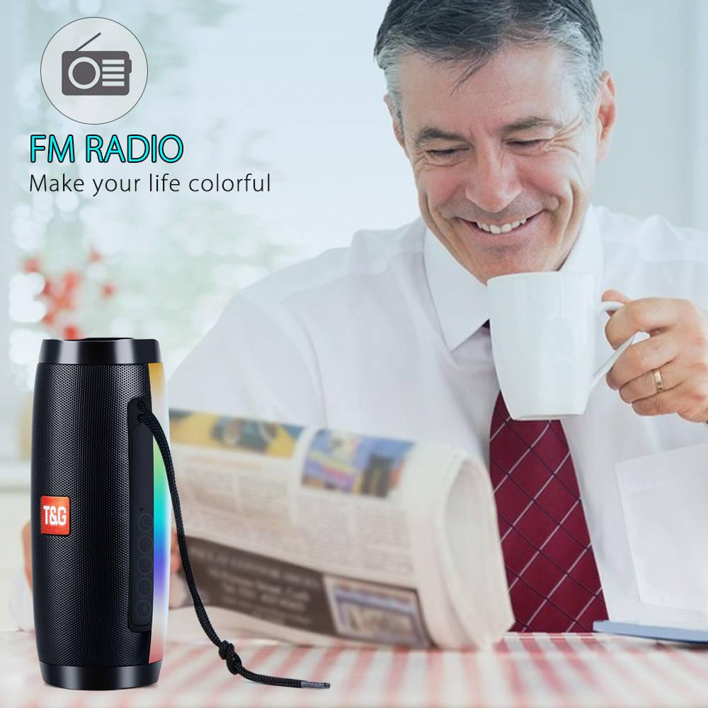 Portable Speakers Bluetooth Column Wireless Bluetooth Speaker Powerful High BoomBox Outdoor Bass HIFI TF FM Radio with LED Light 1