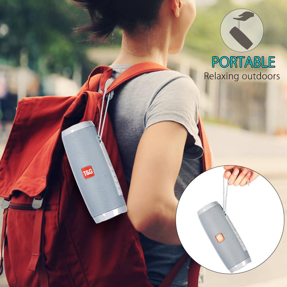 Portable Speakers Bluetooth Column Wireless Bluetooth Speaker Powerful High BoomBox Outdoor Bass HIFI TF FM Radio with LED Light 3