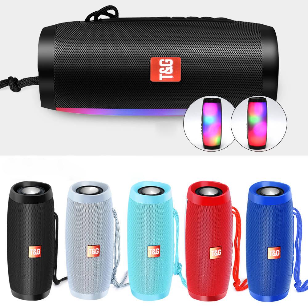 Portable Speakers Bluetooth Column Wireless Bluetooth Speaker Powerful High BoomBox Outdoor Bass HIFI TF FM Radio with LED Light 0