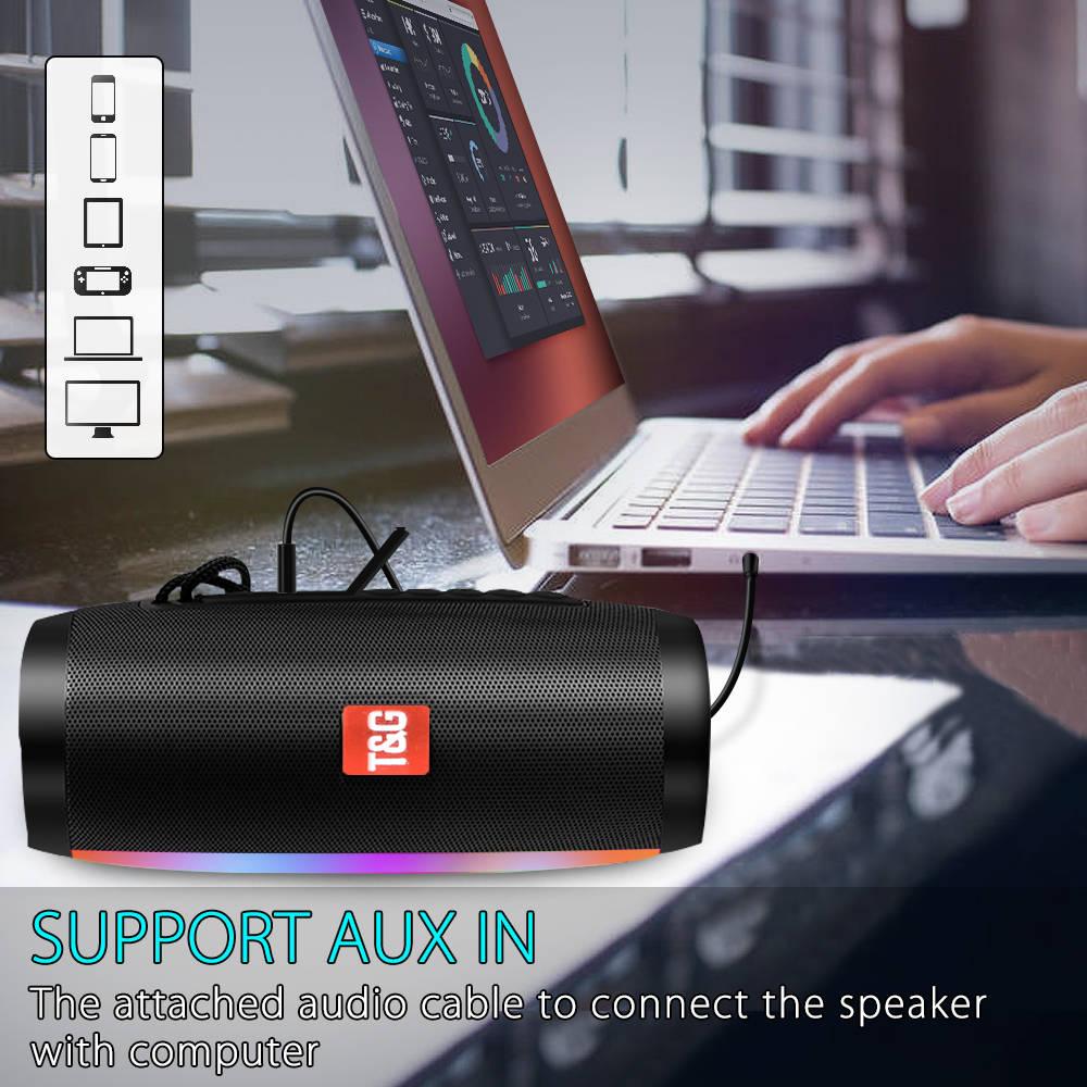 Portable Speakers Bluetooth Column Wireless Bluetooth Speaker Powerful High BoomBox Outdoor Bass HIFI TF FM Radio with LED Light 5