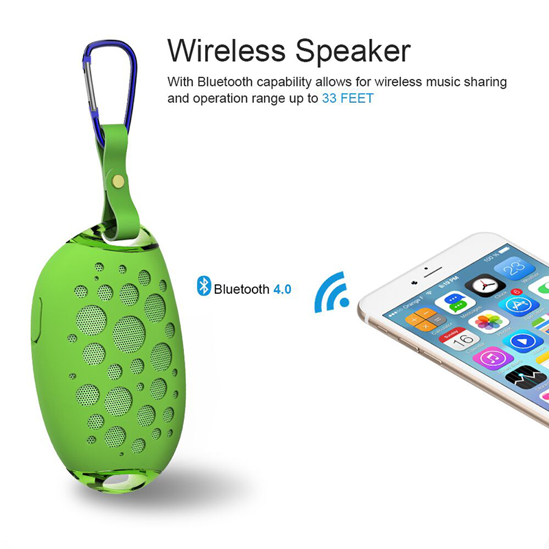 Mini Mango Wireless Bluetooth Speaker MG X1 Outdoor Stereo Speaker With Mic Hook Portable IP54 Waterproof Support Handsfree Call 1
