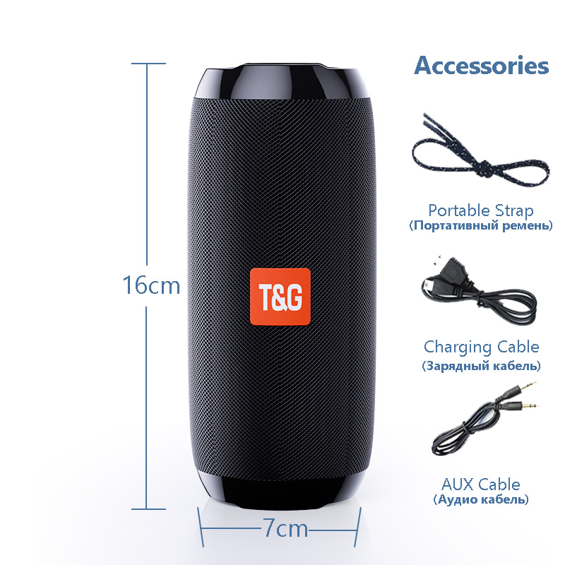 Portable Bluetooth Speaker 20w Wireless Bass Column Waterproof Outdoor USB Speakers Support AUX TF Subwoofer Loudspeaker TG117 15
