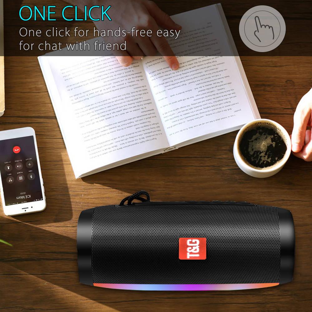 Portable Speakers Bluetooth Column Wireless Bluetooth Speaker Powerful High BoomBox Outdoor Bass HIFI TF FM Radio with LED Light 6