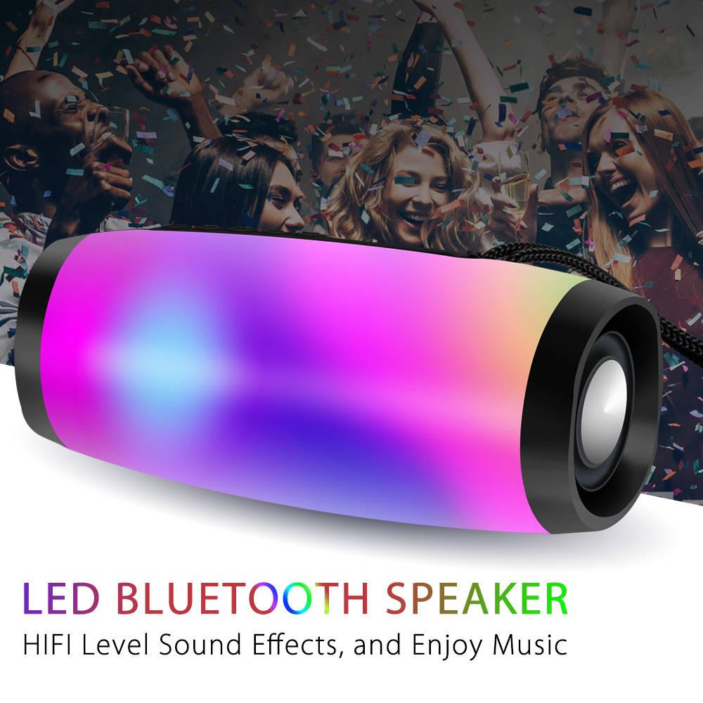 Portable Speakers Bluetooth Column Wireless Bluetooth Speaker Powerful High BoomBox Outdoor Bass HIFI TF FM Radio with LED Light 4