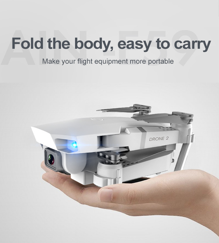 E59 RC Drone 4K HD Camera Professional Aerial Photography Helicopter 360 Degree Flip WIFI Real Time Transmission Quadcopter 2