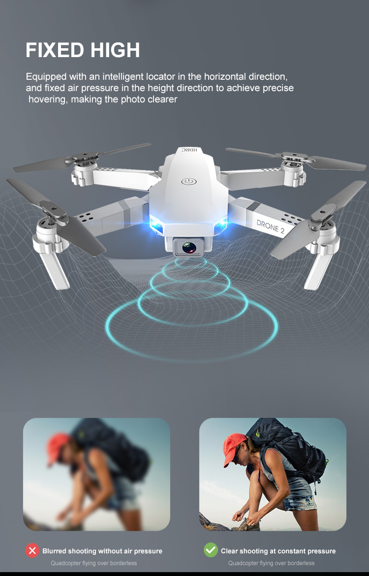 E59 RC Drone 4K HD Camera Professional Aerial Photography Helicopter 360 Degree Flip WIFI Real Time Transmission Quadcopter 8