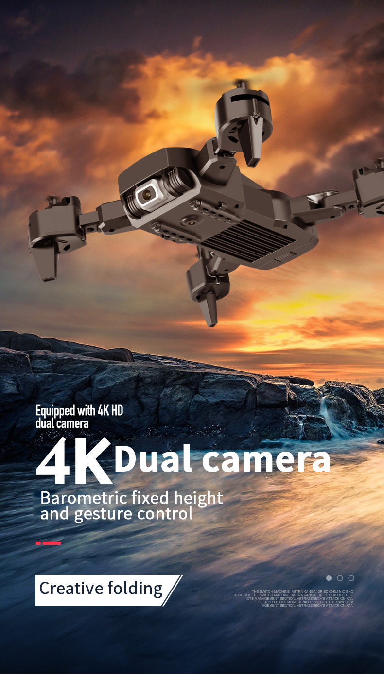 2020 NEW Rc Drone 4k HD Wide Angle Camera 1080P WiFi fpv Drone Dual Camera Quadcopter Real-time transmission Helicopter Toys 0