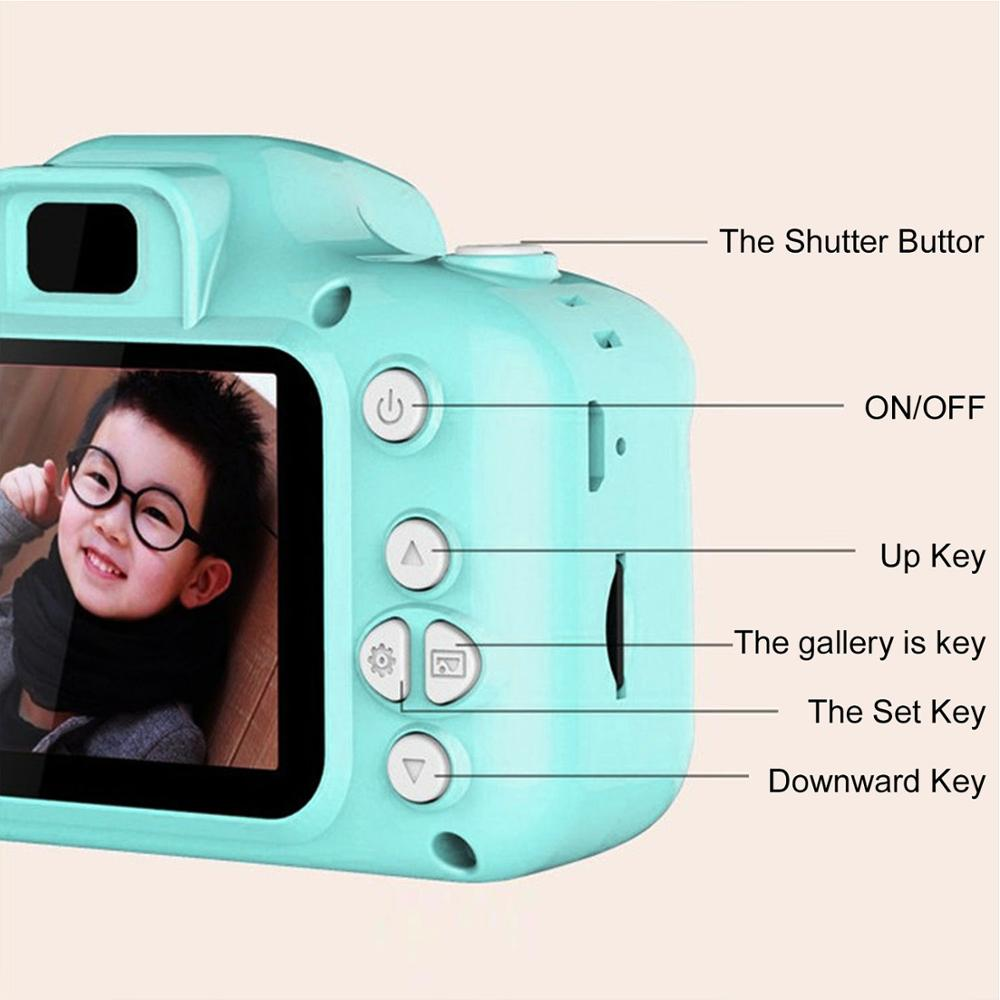 Children Kids Camera Educational Toys for Baby Gift Mini Digital Camera 1080P Projection Video Camera with 2 Inch Display Screen 7