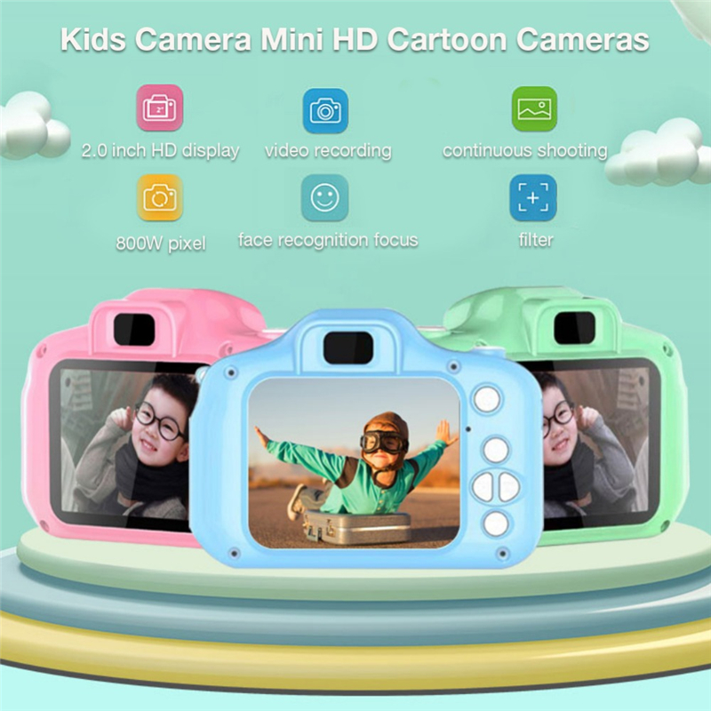 Children Kids Camera Educational Toys for Baby Gift Mini Digital Camera 1080P Projection Video Camera with 2 Inch Display Screen 5