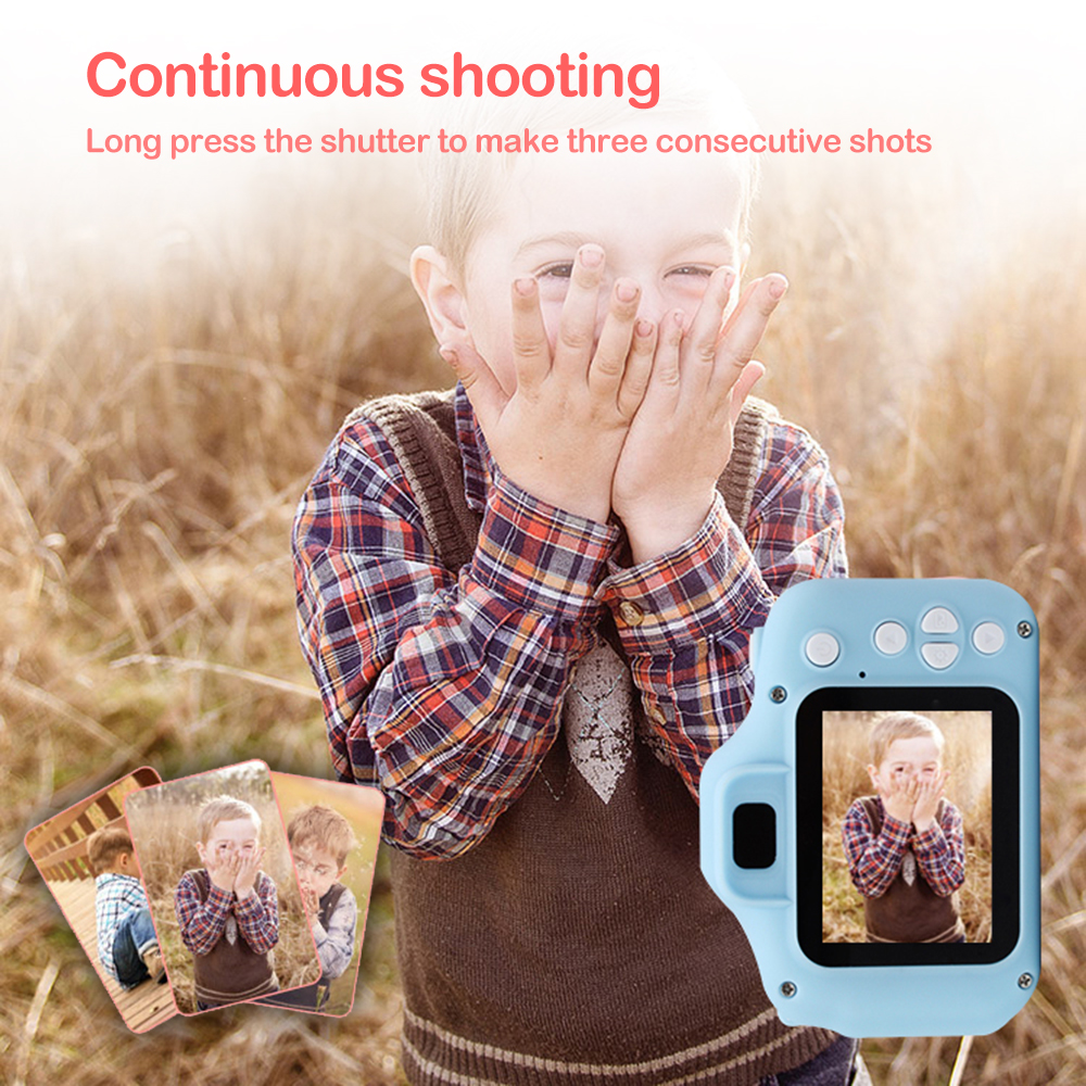 Children Kids Camera Educational Toys for Baby Gift Mini Digital Camera 1080P Projection Video Camera with 2 Inch Display Screen 0