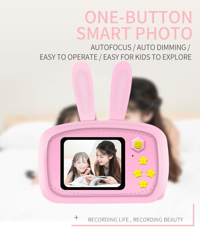 Child camera HD digital camera 2 inch cute cartoon Camera toys children birthday gift 1600w child toys Camera 5