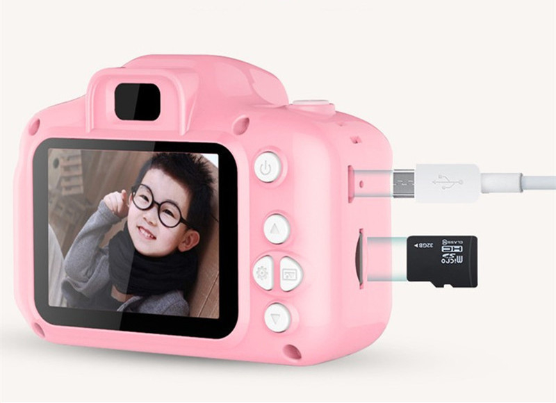 Children Kids Camera Educational Toys for Baby Gift Mini Digital Camera 1080P Projection Video Camera with 2 Inch Display Screen 6