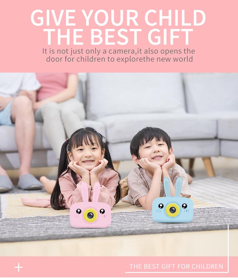Child camera HD digital camera 2 inch cute cartoon Camera toys children birthday gift 1600w child toys Camera 8