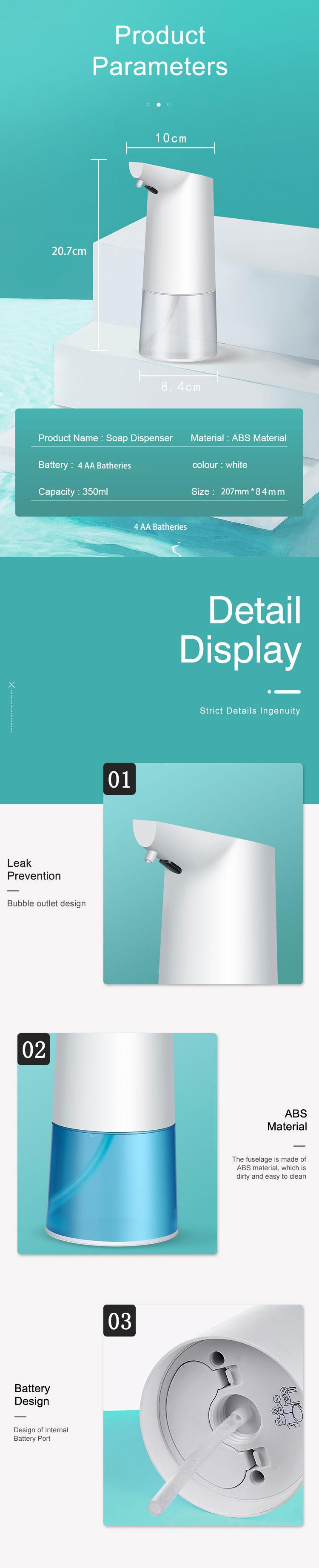 Touchless Bathroom Dispenser Smart Sensor Liquid Soap Dispenser for Kitchen Hand Free Automatic Soap Dispenser 1